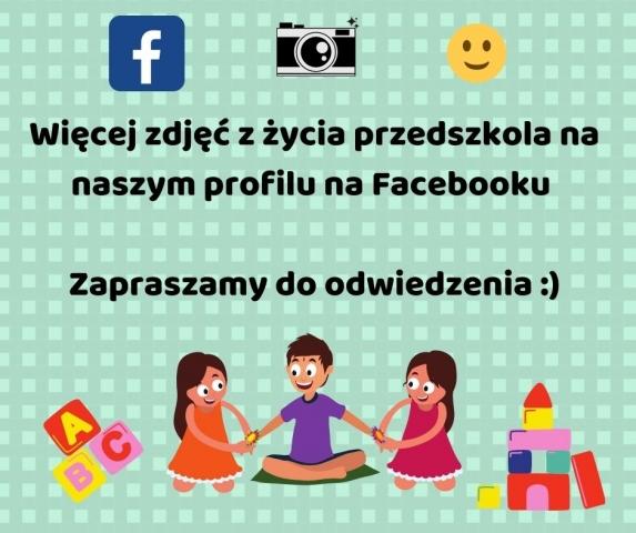 Po więcej zdjęć z życia przedszkola zapraszamy na nasz profil na Facebooku nagłówek